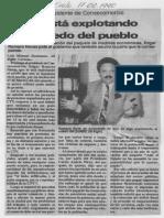 Edgard Romero Nava - Se Esta Explotando El Miedo Del Pueblo - El Siglo 17.02.1990