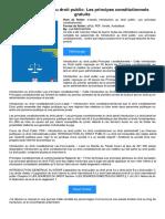 [PDF] Introduction Au Droit Public_ Les Principes Constitutionnels Gratuite