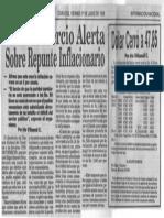 Cosecomercio Alerta Sobre Repunte Inflacionario - Ultimas Noticias 01.06.1990