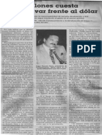 Edgard Romero Nava - 1000 Millones Cuesta Cada Bolivar Frente Al Dolar - Fanny Perez v. - 1990