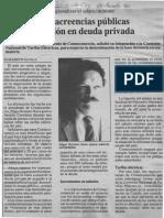 Edgard Romero Nava - Acuerdos en Acreencias Publicas Mejoran Opcion en Deuda Privada - El Diario de Caracas25.08.1990