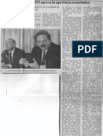 Edgard Romero Nava - Consecomercio Apoya La Apertura Economica - 1990