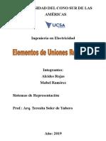 Trabajo Práctico Sistemas de Representación - Elementos de Uniones Roscadas