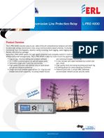 L PRO 4000 Line Protection Relay Ds