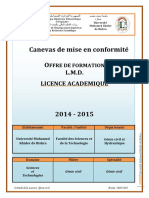 Programme Licence GC