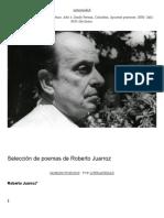 Selección de Poemas de Roberto Juarroz – Literariedad