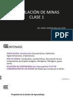 Ventiilación de Minas Clase 1