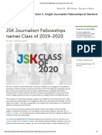 JSK Journalism Fellowships Names Class of 2019-2020 _ JSK
