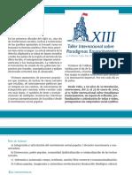 Convocatoria 13 Taller Internacional Sobre Paradigmas Emancipatorios