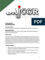 Dajcor Press Operator