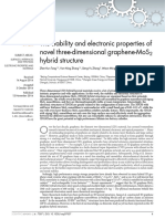 The stability and electronic properties of novel three-dimensional graphene-MoS2 hybrid structure