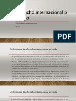 Primera Clase de Derecho Internacional Privado