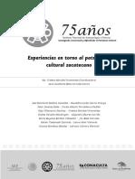 Experiencias en Torno Al Patrimonio Cultural Zacatecano