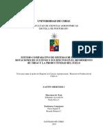 Estudio Comparativo de Sisteimas de Labranza y Rotaciones de Cultivos y Sus Efecto en El Rendimiento de Trigo y La Productividad Del Suelo