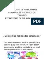 Desarrollo de Habilidades Personales y Equipos de Trabajo