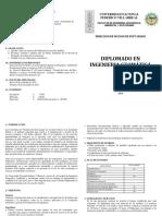 Diptico Diplomado Ingenieria Geomatica