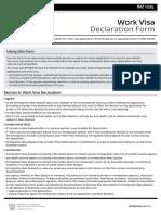 Work Visa Declaration Form May 2018