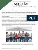 """01-05-2019 Inaugura El Gobernador El Puente """"La Marquesita"""" en La Colosio-Llano Largo."""