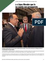 01-05-2019 Planteó Astudillo a López Obrador que la Reforma Educativa cuente con presupuesto.