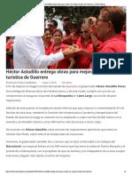 02-05-2019 Héctor Astudillo entrega obras para mejorar la imagen turística de Guerrero.
