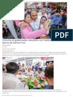 03-05-2019 Convive El Gobernador Astudillo Con Habitantes Del Barrio de Santa Cruz.