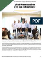 03-05-2019 Héctor Astudillo y Mario Moreno se reúnen con directivos de CFE para gestionar mayor cobertura.