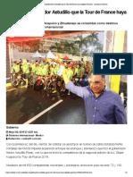 05-05-2019 Festeja El Gobernador Astudillo Que La Tour de France Haya Elegido Guerrero.