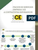 Flujo Prestación de Servicios de 3CE