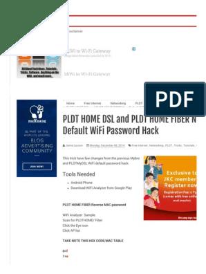 PLDT HOME DSL and PLDT HOME FIBER New Default WiFi Password