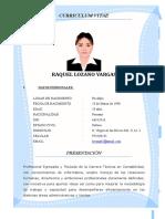 Curriculum Raquel Lozano Vargas Actualizada 2019