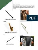 Nombres de Los Instrumentos Musicales