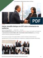 08-05-2019 Héctor Astudillo dialoga con SFP sobre solventación de auditorías.