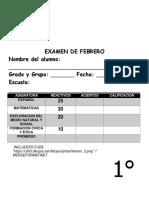 Examen 1er Grado - Febrero