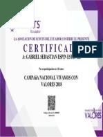 550012649 Campana Nacional Vivamos Con Valores 2018