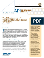 The Effectiveness of Treatment for Adult Sexual Offenders