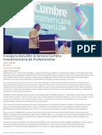 11-05-2019 Inaugura Astudillo La Tercera Cumbre Interamericana de Profesionistas.