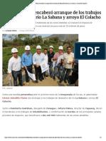 12-05-2019 Astudillo Flores encabezó arranque de los trabajos de desazolve del río La Sabana y arroyo El Colacho.