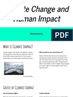 climate change and human impact