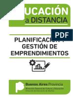EDUCACIÓN a DISTANCIA Planificación y Gestión de Emprendimientos