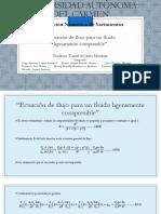 Ecuación de flujo para un fluido ligeramente compresible.pptx