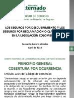 Los Seguros Por Descubrimiento y Los Seguros Por Reclamación o Claims Made en La Legislación Colombiana - Bernardo Botero