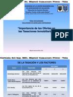 Importancia de las Ofertas en Tasaciones Inmobiliarias - Miguel Camacaro- Ponencia UPAV MIAMI 10-2010