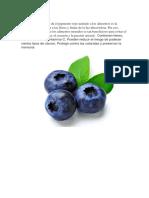 Azul Morado Frutas
