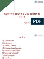 Determinacion Zinc Utilizando EDTA