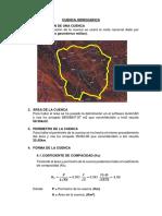 Analisis de Cuenca Hidrogáfica 1