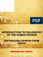 Introduction to Philosophy of the Human Person