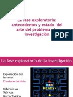 Fase exploratoria de la investigación