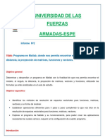 Informe de Algebra Lineal N 2