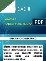 unidad II Celdas y paneles fotovoltaicos