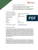 Programacion de Microcontroladores (1) (Autoguardado) AVANSYS 2019 IA 331 XTRA